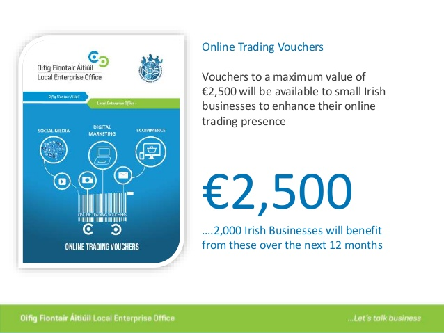 The trading online voucher scheme will match funding for e-commerce website upgrade