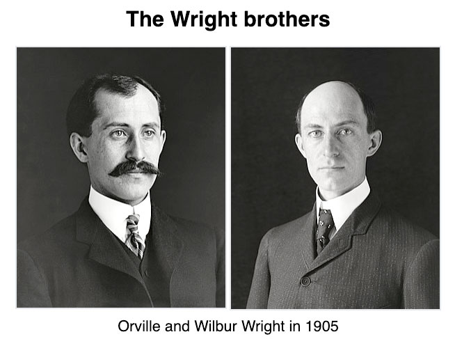 Wilbur and Orville Wright. Courtesy of Wikipedia